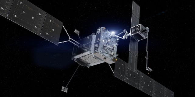 an image of a satellite in space