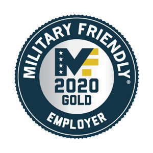 Military Friendly Employers Gold Award – 2020