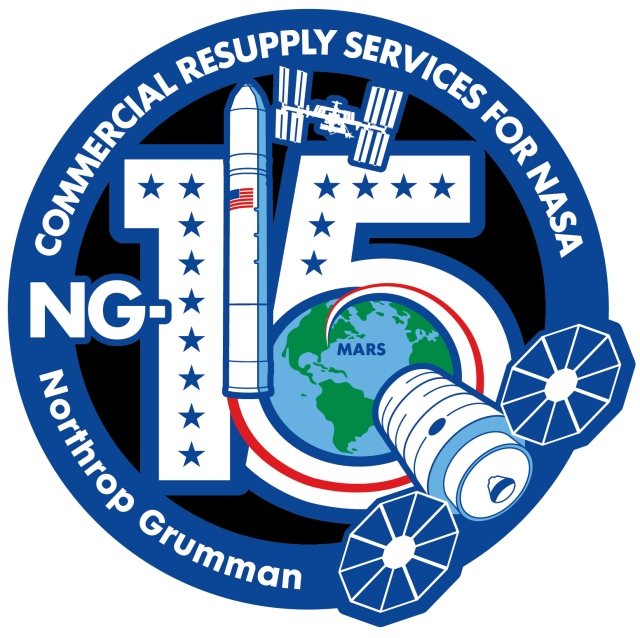 A Patch Logo of the NG-15 Mission
