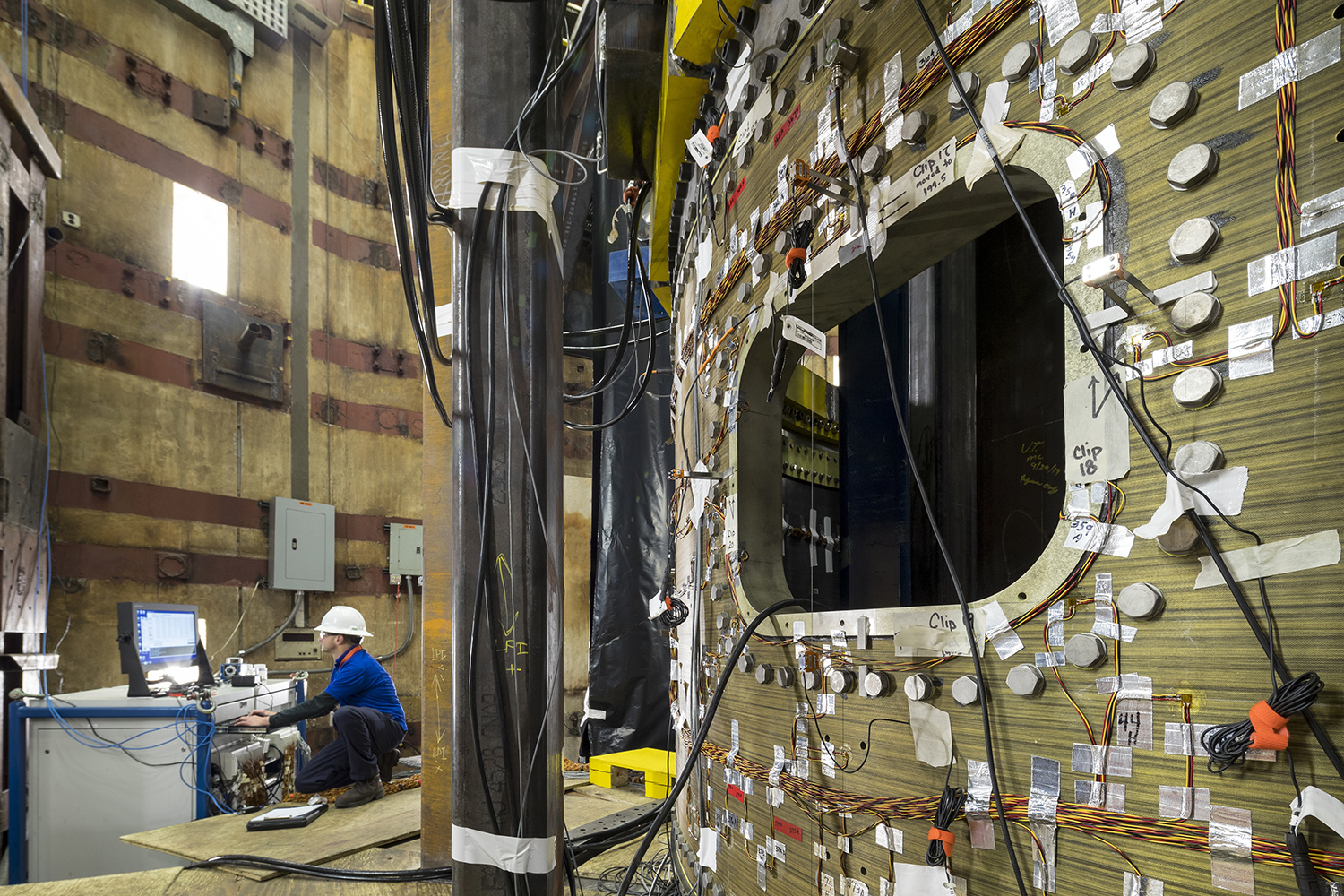 Engineers at NTS perform environmental and dynamics testing on an OmegA second stage aft extension. (October 2019)