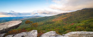 Sunrise over mountains in Virginia