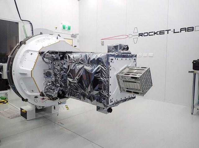 spacecraft in white lab