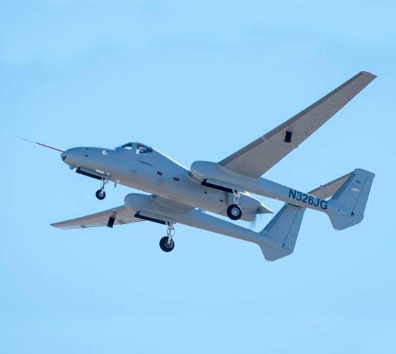 Firebird plane flying in blue sky