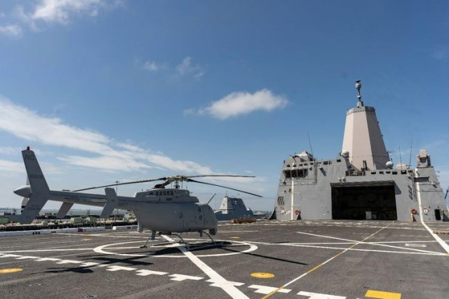 helicopter on deck of ship
