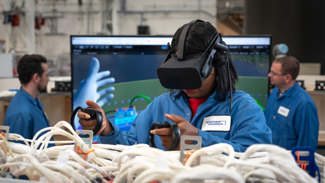 OmegA engineers use virtual reality to evaluate their computer aided designs. (January 2020)
