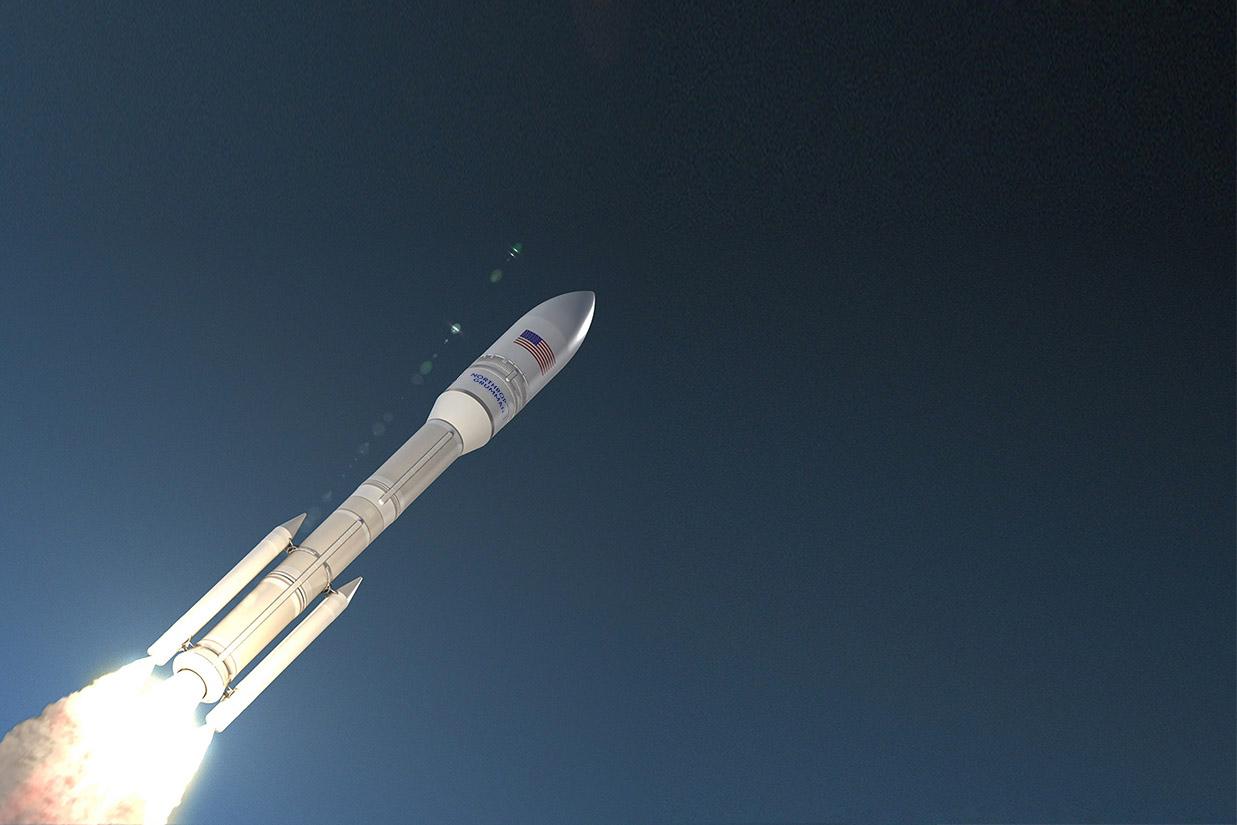 OmegA rocket launching.