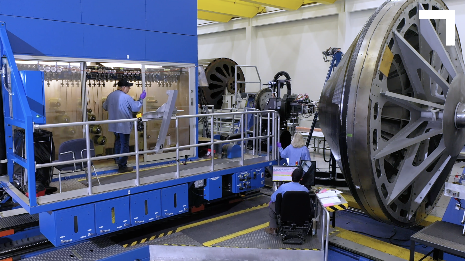 A picture from Iuka where fiber replacement technologies are used for the OmegA rocket.
