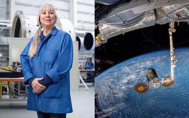 woman and spacecraft