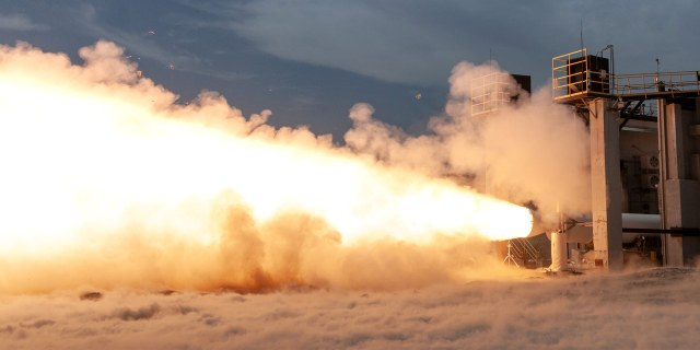rocket engine test