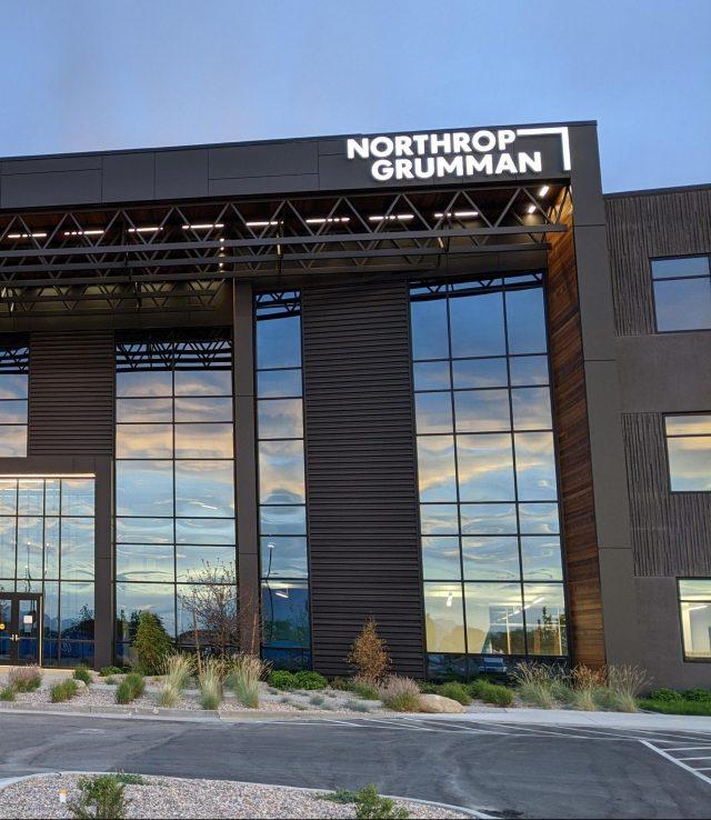 Office building with Northrop Grumman logo