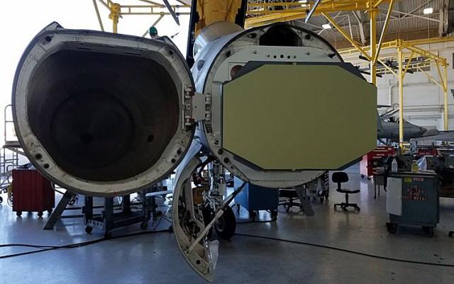 APG-83 SABR on a F/A-18C Hornet at MCAS Miramar in California