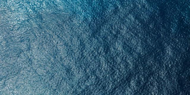 View of ocean from above