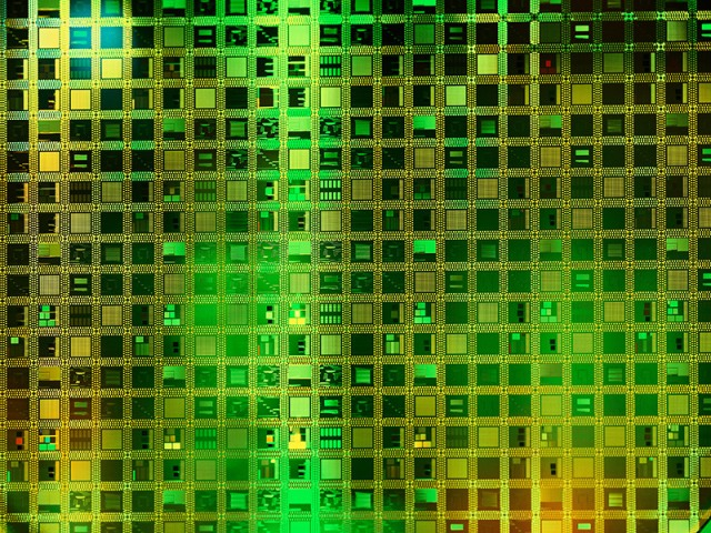 close up of microchip