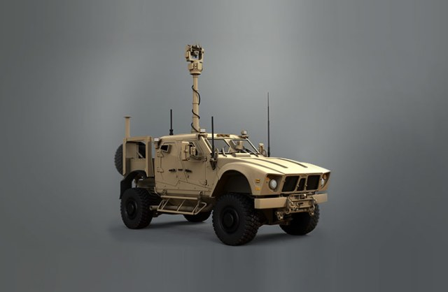 miltary vehicle with targeting pod