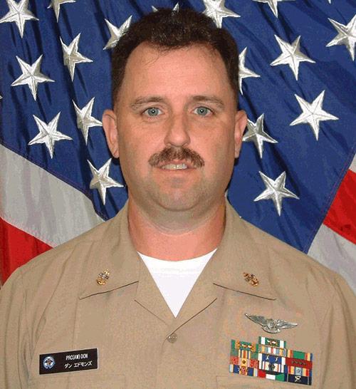 White male in military uniform