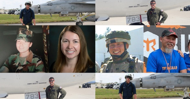 collage of various Veterans at work