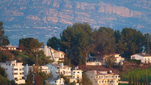 Mountain view from Woodland Hills California