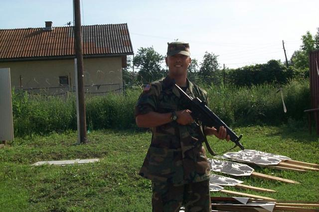 vetaran in his military uniform on duty