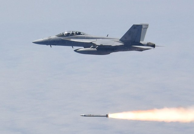 missile launched from F/A-18