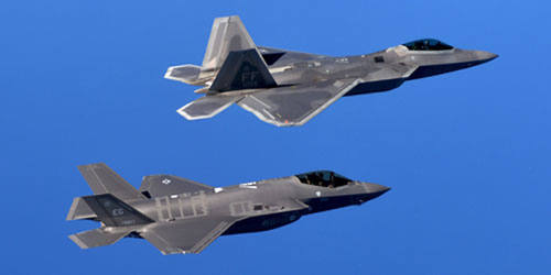 Active Electronically Scanned Array (AESA) Radars on F-22 and F-35