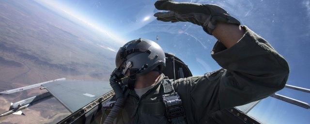 pilot flying F-22 Raptor