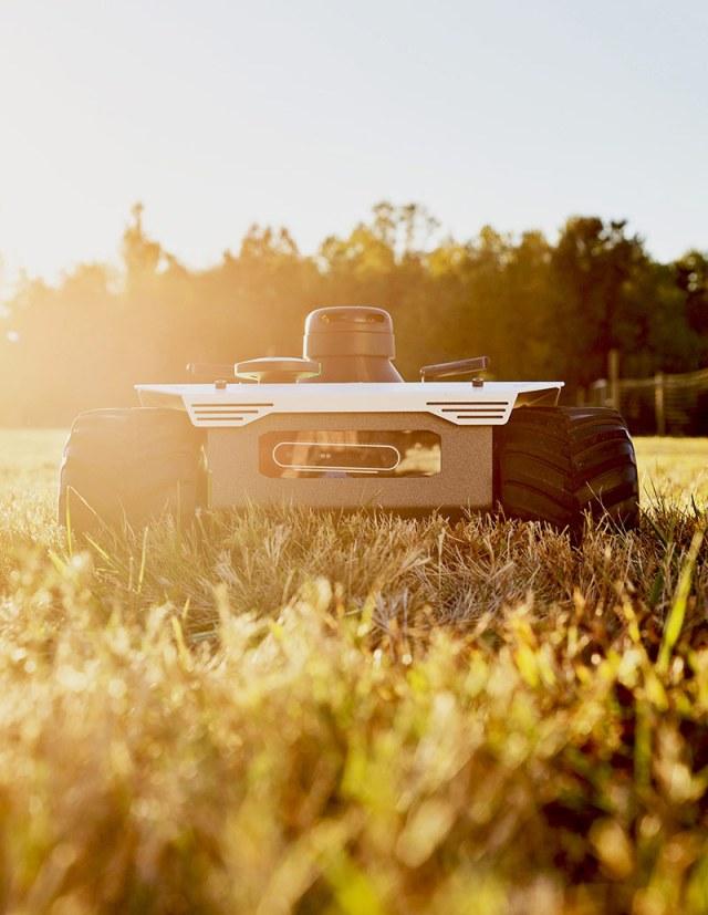small autonomous robot on land