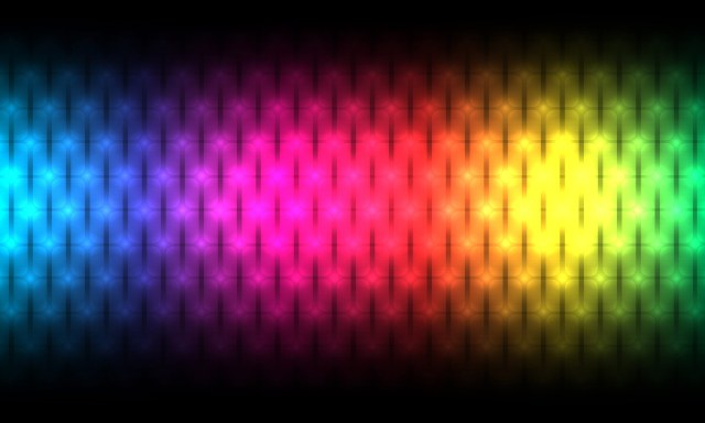 a color gradiant representing the electromagnetic spectrum