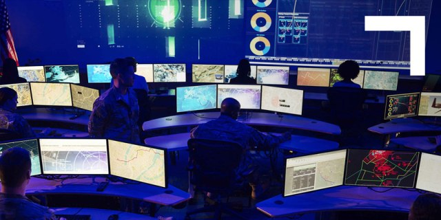 command room with monitors