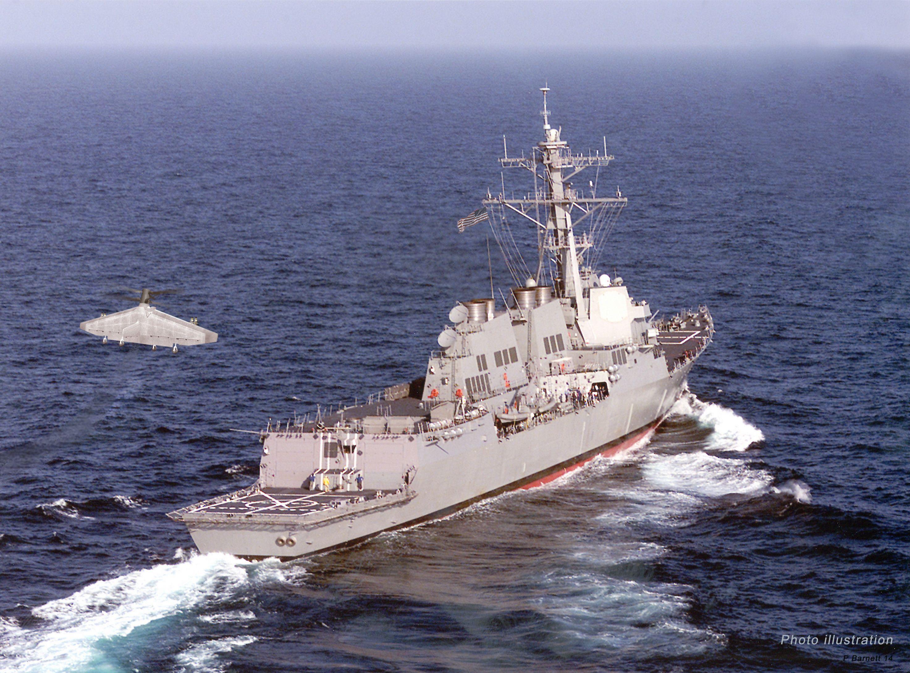 missile Destroyer USS Shoup