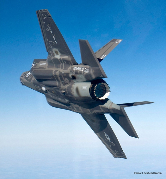 f-35 in the air