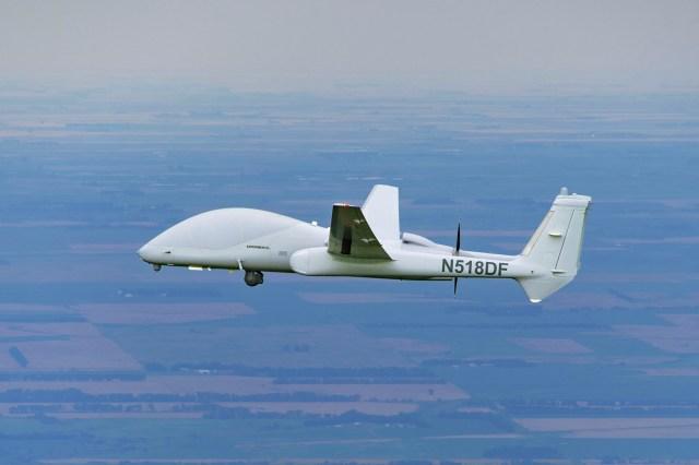 unmanned firebird in air