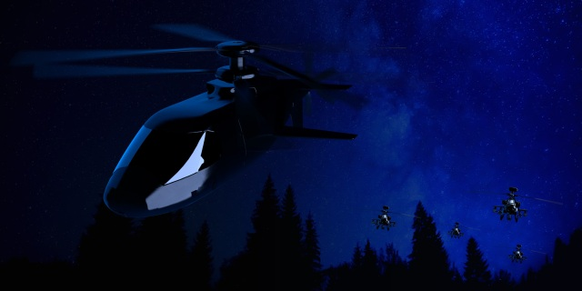 aircrafts in night sky