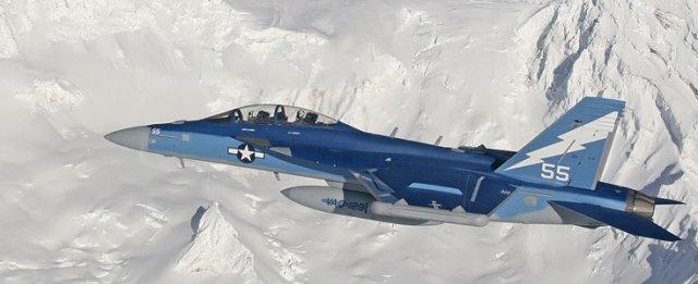 EA-6B Prowler military aircraft flying
