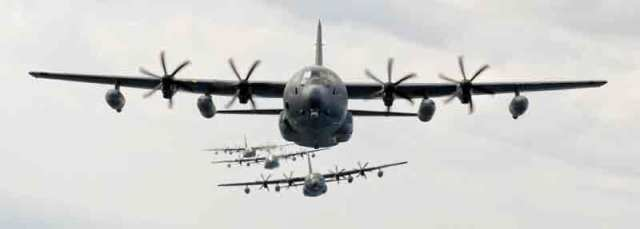 MC-130J aircraft in flight