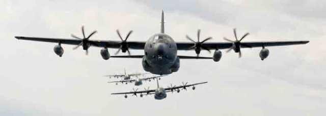 MC-130J aircraft in flight