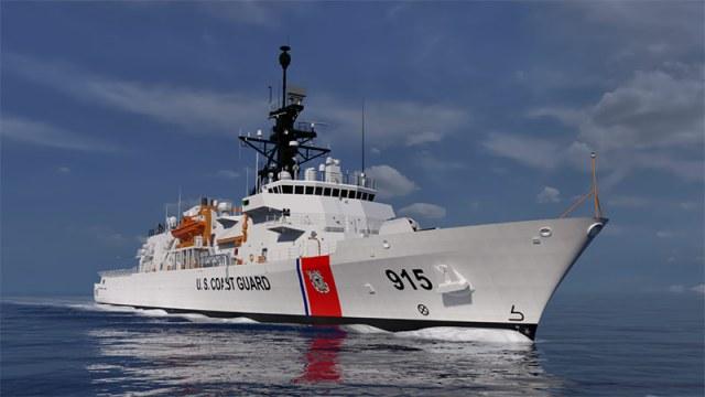 artist rendition of USCGC Offshore Patrol Cutter