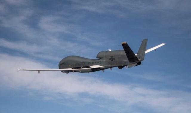 EQ-4B Global Hawk aircraft in sky