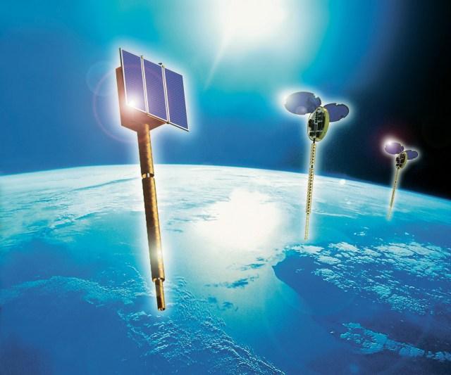 Orbcomm satellite in orbit