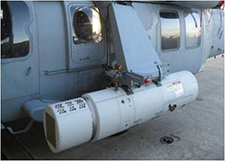 Airborne Laser Mine Detection System on an aircraft