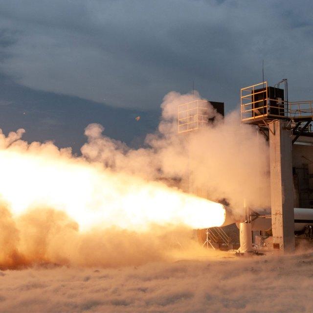 solid rocket motor test fire