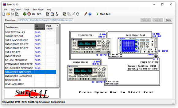 SureCAL Test Manager 5.2