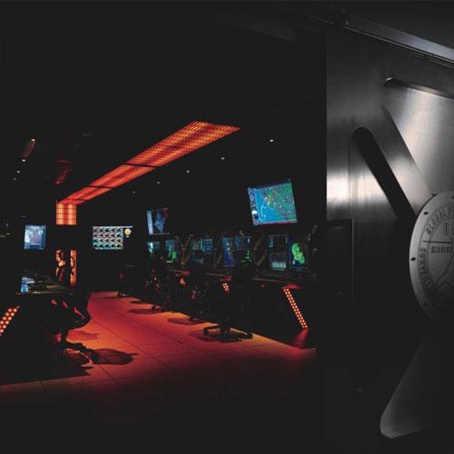 computer operators in private room